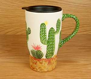 Pleasanton Cactus Travel Mug