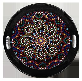 Pleasanton Mosaic Mandala Tray