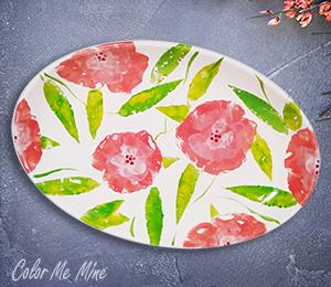 Pleasanton Floral Paper Stamping