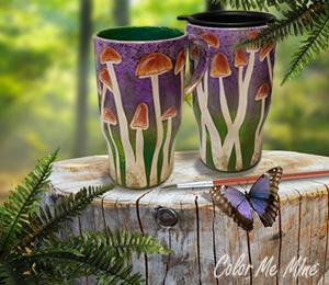 Pleasanton Mushroom Mugs