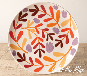 Pleasanton Fall Floral Charger