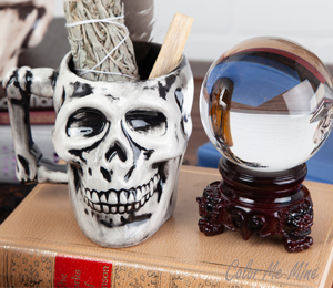 Pleasanton Antiqued Skull Mug
