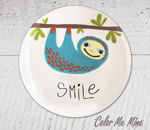 Pleasanton Sloth Smile Plate