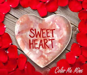 Pleasanton Candy Heart Plate