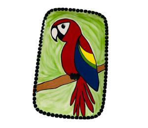 Pleasanton Scarlet Macaw Plate