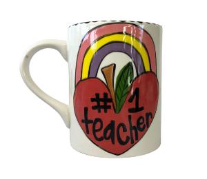 Pleasanton Rainbow Apple Mug