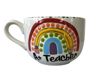 Pleasanton Polka Dot Rainbow Mug